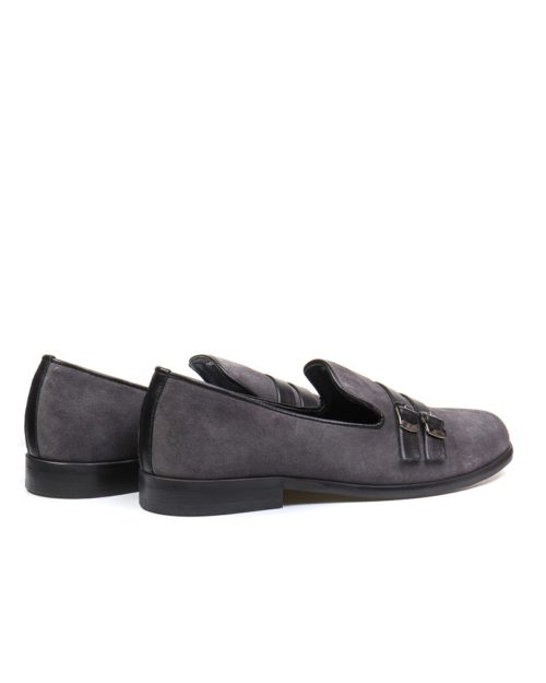 Лоферы Eden gray buckle loafers