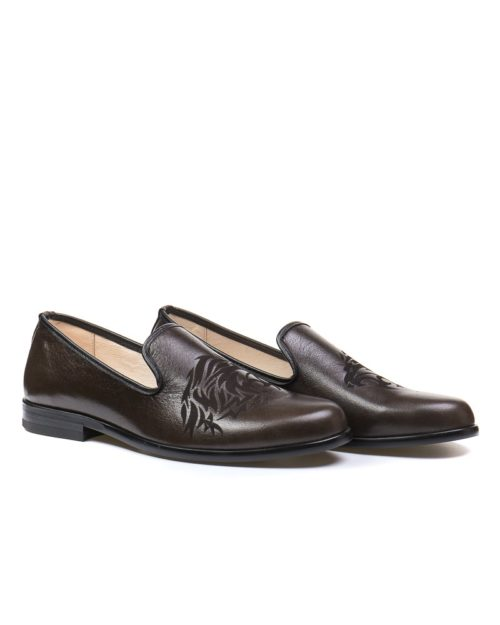 Лоферы York lion pattern loafers