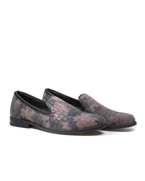 Лоферы York suede camouflage loafers