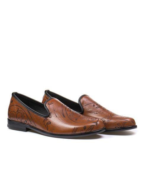 Лоферы York brown patterned loafers