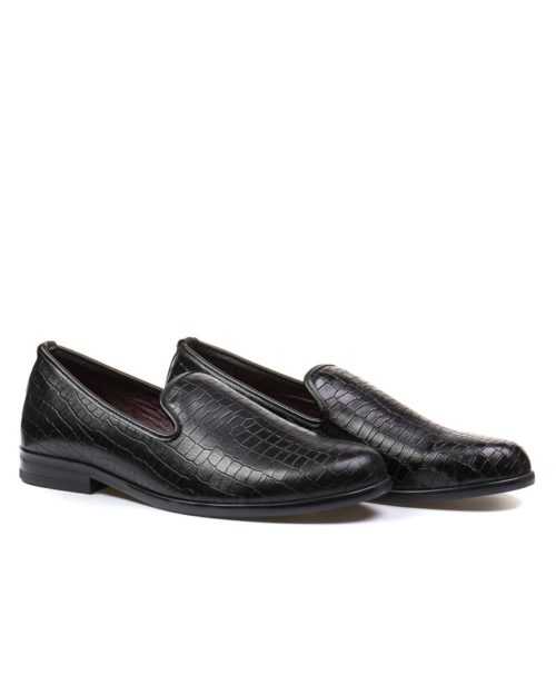 Лоферы York dark reptile loafers