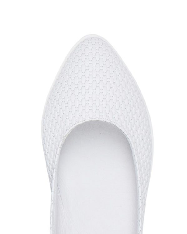 Балетки Sharpy wicker white ballerina