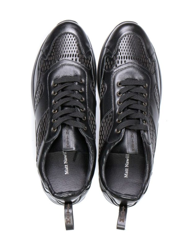 Кроссовки Nash all black сross-cutting sneakers